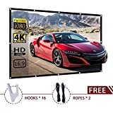 100-inch Projector Screen Outdoor Portable - EleTab 16:9 HD Foldable Anti-Crease Projection Movies Screen for Home Theater Support Double Sided Projection