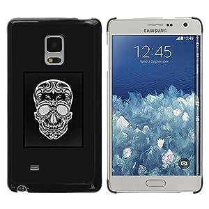 Paccase / SLIM PC / Aliminium Casa Carcasa Funda Case Cover - Black White Skull Pattern Poster Grey - Samsung Galaxy Mega 5.8 9150 9152
