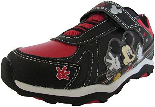 Disney Mickey Mouse Maus Kinder Jungen Turnschuhe Schuhe schwarz rot
