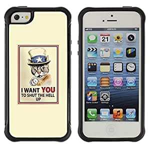 Suave TPU GEL Carcasa Funda Silicona Blando Estuche Caso de protección (para) Apple Iphone 5 / 5S / CECELL Phone case / / Cat Quote Art Poster Drawing Shorthair /