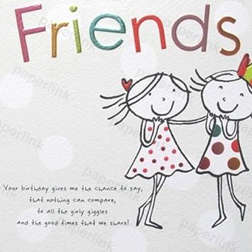 Pretty Female Birthday Card PLK0061 Friends
