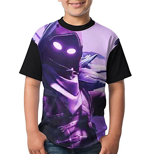 For-tnite Raven Youth Boy Short Sleeve Round Neck Blouse T Shirt (High School Couple Halloween Costumes)