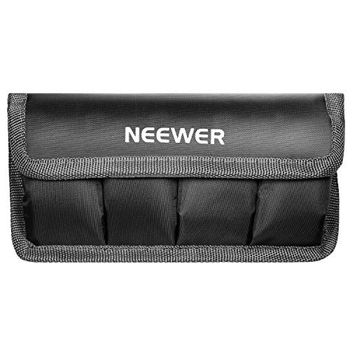 Battery Pouch - Neewer DSLR Battery Bag/Holder/Case for AA Battery and lp-e6/ lp-e8/ lp-e10/ lp-e12/ en-el14/ en-el15/ fw50/ f550 and More, Suitable for Battery of Nikon D800, Canon 5DMKIII, Sony A77
