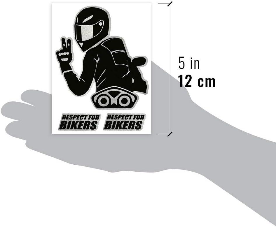 4r Quattroerre It 6341 Super Geformter Aufkleber Respect For Bikers 10 X 12 Cm Auto