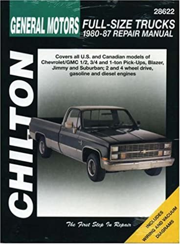 Chevy truck off road parts user user manuals user manuals array gm full size trucks 1980 87 chilton total car care series rh amazon com fandeluxe Image collections