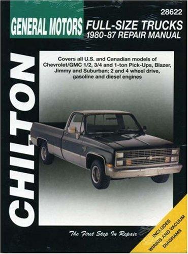 Gm Full Size Trucks  1980 87  Chilton Total Car Care Series Manuals