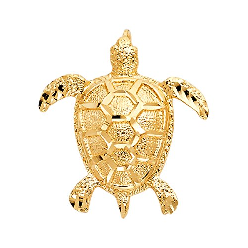 14k Yellow Gold Turtle Pendant (14K Yellow Gold Turtle Pendant - Height 31 MM Width 28 MM)