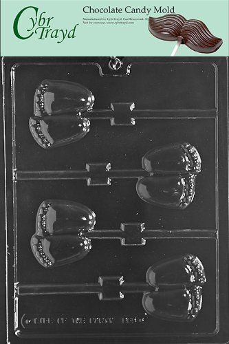 Cybrtrayd Life of the Party B065 Chubby Baby Feet Lolly Chocolate Candy Mold in Sealed Protective Poly Bag Imprinted with Copyrighted Cybrtrayd Molding Instructions