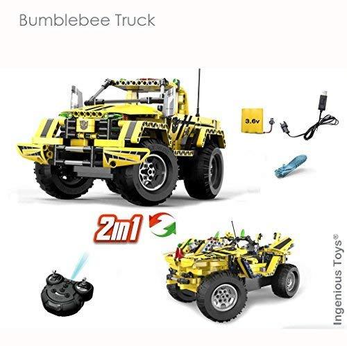 Ingenious Giocattoli 2 in 1 Technic Rc Bumblebee Camion 2.4GHz   Costruzioni Set  E1003