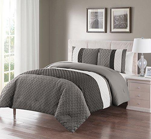 8 Piece Blue Brown Beige Regatta QUEEN Comforter Set with ac