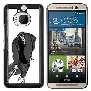 """Be-Star Único Patrón Plástico Duro Fundas Cover Cubre Hard Case Cover Para HTC One M9+ / M9 Plus (Not M9) ( Hombre Murciélago Dibujo al lápiz Arte Zombie de dibujos animados"""" )"""