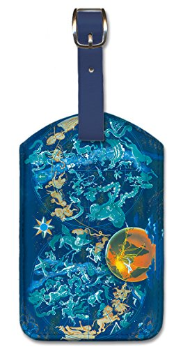 Boucher Art Painting - Leatherette Luggage Tag Baggage Label - Zodiac by Lucien Boucher