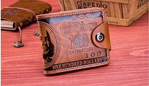Lucrative shop Flying birds men Wallet short dollar price Leather Wallets Clutch money purse men