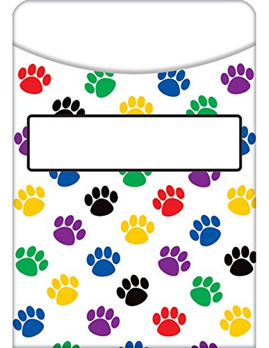 Teacher Created Resources Paw Prints Library Pockets (5550) (5550 Print)
