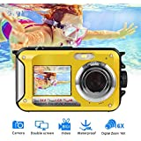 Underwater Camera Waterproof Camera Full HD 1080P for Snorkelling Waterproof Point and Shoot Digital Camera Dual Screen Action Camera