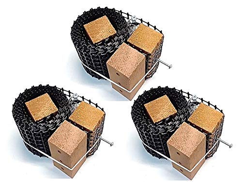 Scroll Trellis Garden Trellis 3 Pack Kit, 9 Feet Tall by 4 Inches Wide for Narrow Spaces, Fence Posts. Combine Kits for Larger Spaces.