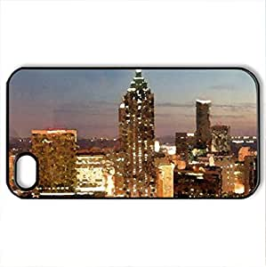 Atlanta modern architecture - Case Cover for iPhone 4 and 4s (Modern Series, Watercolor style, Black)