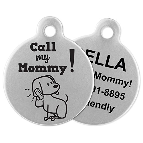 Order Dog Tags (If It Barks - Engraved Pet ID Tags for Dogs - Personalized Stainless Steel Identification Tags - Custom Name Tag Attachment - Made in USA, Call My)