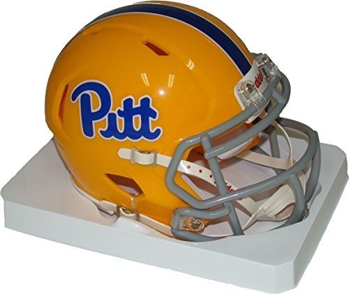 (Pittsburgh Panthers (Pitt) Script Gold Throwback Revolution SPEED Mini Football Helmet)
