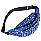 Fanny Pack Bag, Shybuy Boho Fanny Pack Fashion Floral Festival Bum Bags Travel Hiking Sport Hip Bum Waist Bag (C, 14.1(L)3.9(W)4.7(H)'')