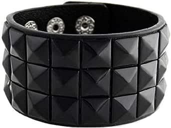 Nuevo Triple y doble con tachuelas Punk Rock pulsera pulseras (varios colores)