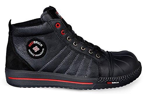 2W4 S3 Black Kappe Sneaker RedBrick Sohle und Onix Sicherheitsschuhe sportlich rpE6rxwqg