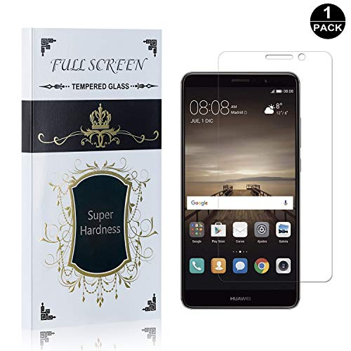 Huawei Mate 9 Screen Protector, UNEXTATI Premium HD [Easy Install] [Anti-Fingerprint] Tempered Glass Screen Protector Film for Huawei Mate 9 (1 Pack) ()