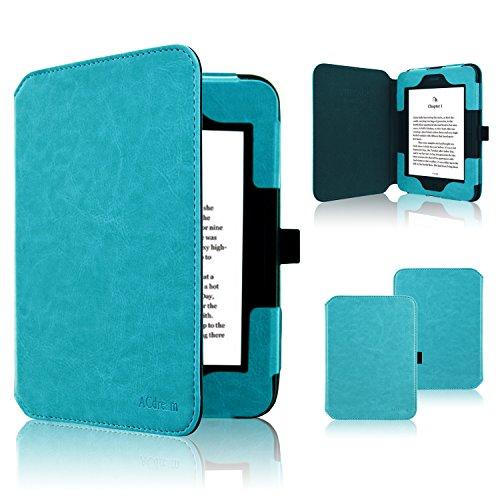 Nook GlowLight 3 Case, ACdream Folio Premium Leather Ereader Cover Case for Barnes & Noble Nook GlowLight 3 (2017 Release), (Sky Blue) (Nook Simple Touch Case)