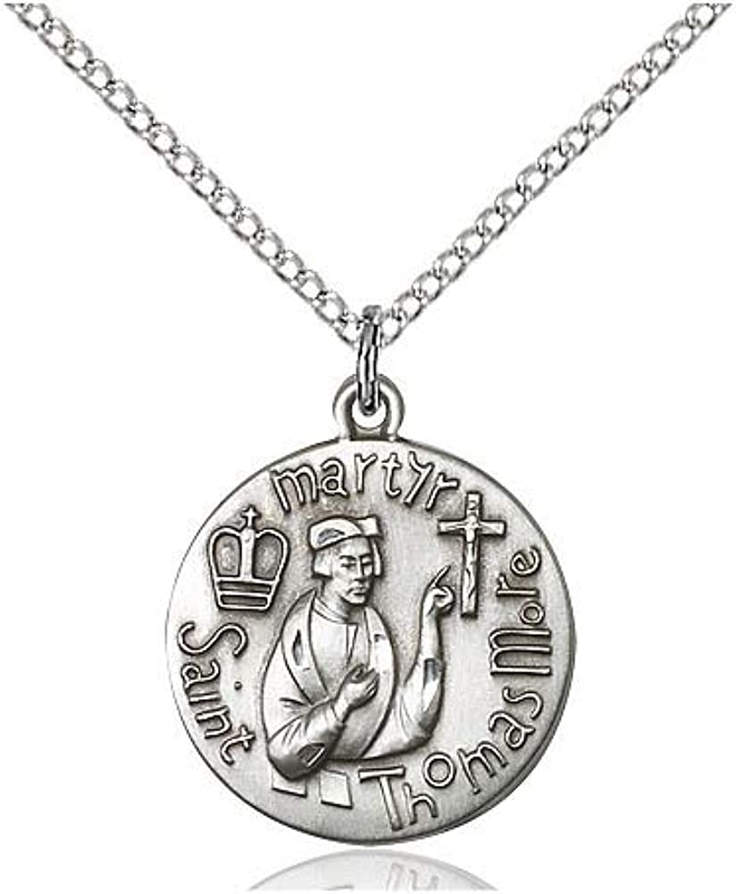 Thomas More Pendant DiamondJewelryNY Sterling Silver St
