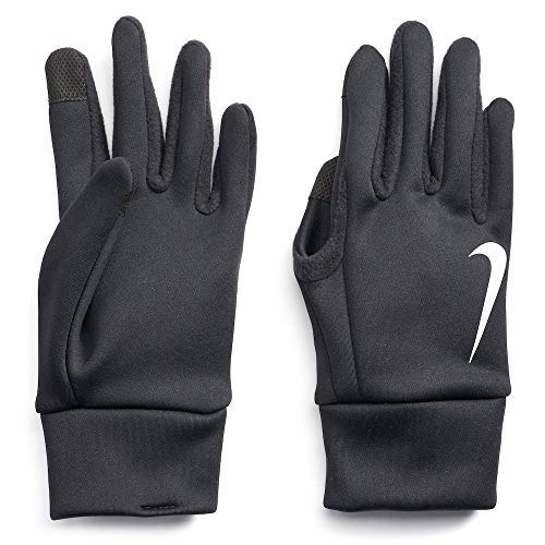NIKE Mens Thermal Therma Fit Fabric Touch Screen Capability Gloves (Medium, Black)