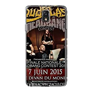 Scratch Resistant Hard Phone Covers For Samsung Galaxy Note3 With Allow Personal Design HD Loudblast Band Image JamieBratt