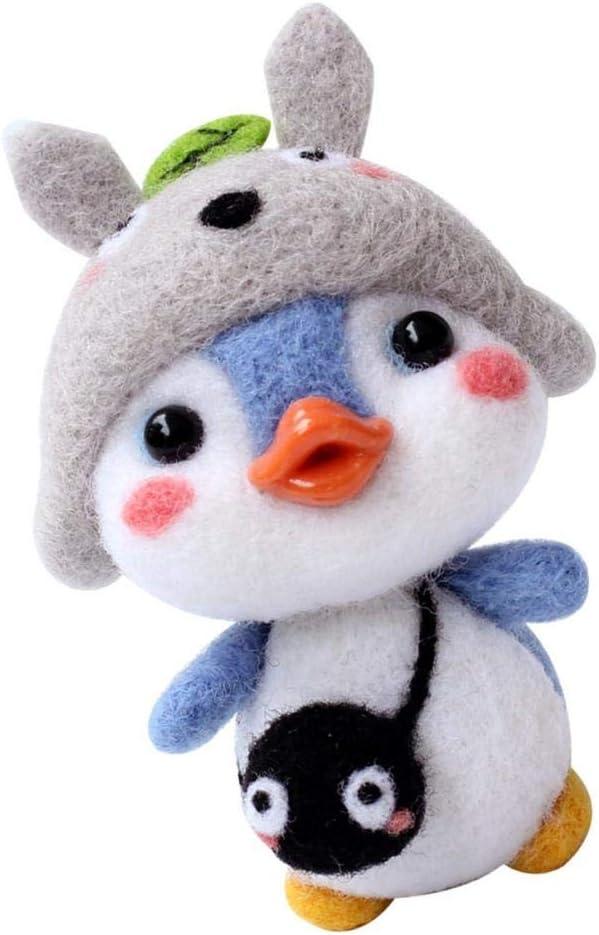 Pinguin Shiba Filztier Hellery Trockenfilzen Filznadeln Penguin Filzen Starterset mit Filzwolle f/ür Anf/änger DIY Handwerk
