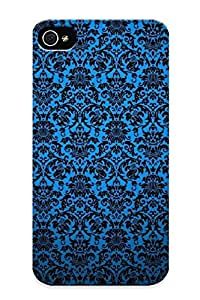 85b75d46240 Tough Iphone 4/4s Case Cover/ Case For Iphone 4/4s(blue Vintage Pattern ) / New Year's Day's Gift