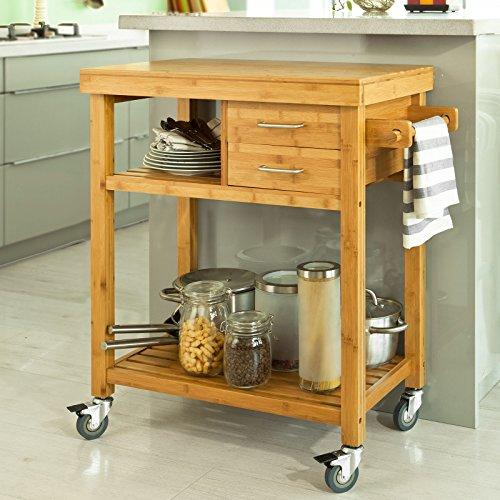 Sobuy kitchen storage trolley cart kitchen trolley cart - Carritos de cocina carrefour ...