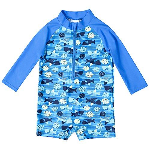 6cb4809f6 beautyin Baby Girls Boys Rash Guard Long Sleeve Swimming Costume ...