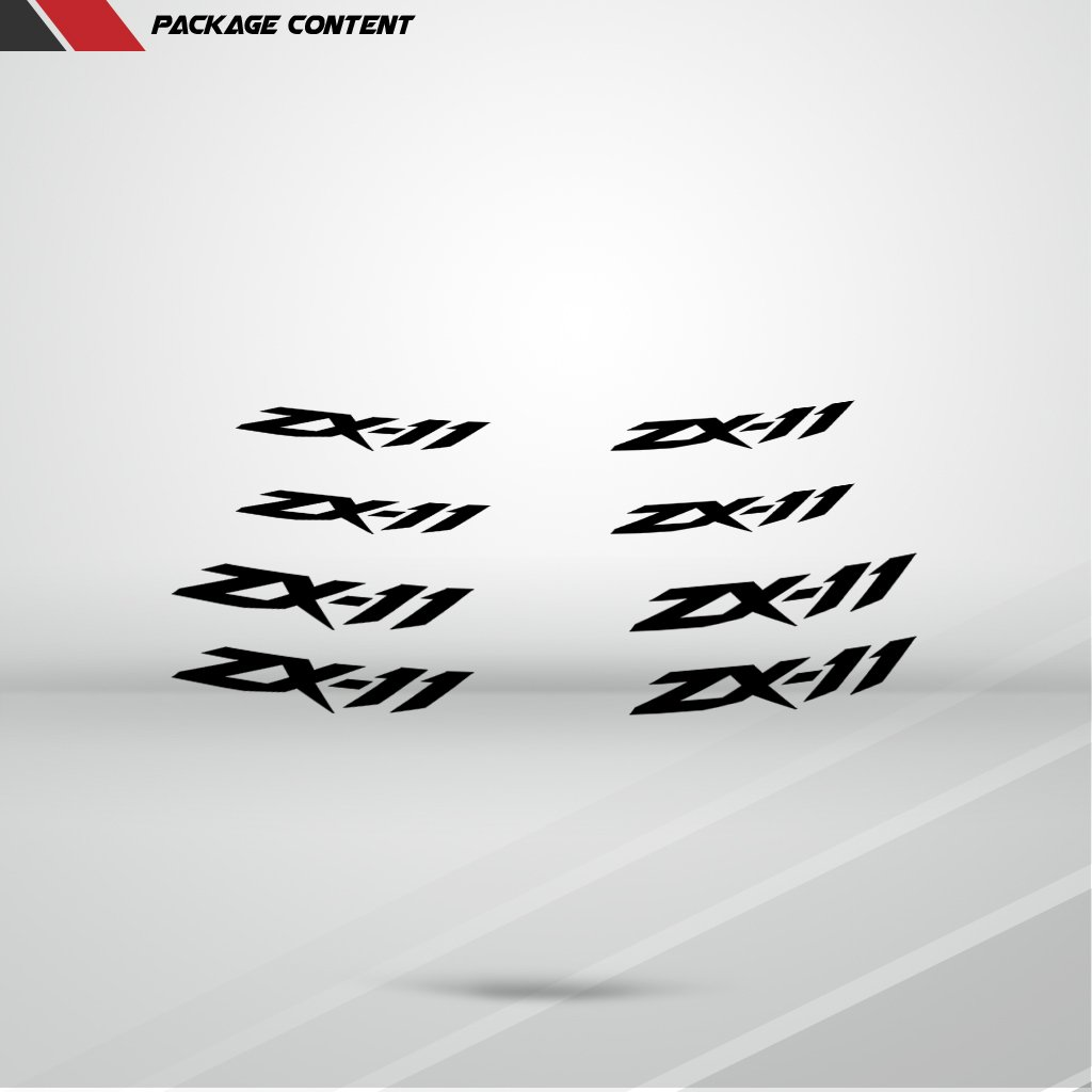 Reflective Silver Motorcycle Inner Rim Tape Sticker Decal for Kawasaki ZX 11