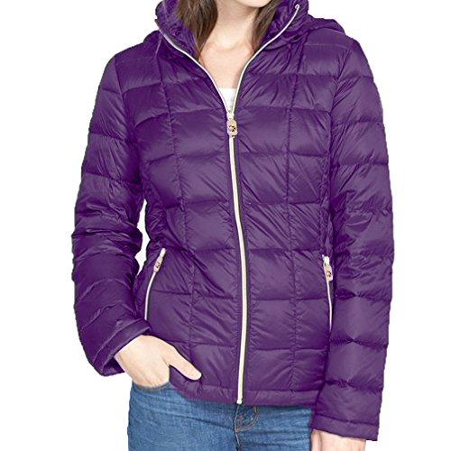MICHAEL Michael Kors Hooded Down Packable Coat - Purple - Kors Michael Macys
