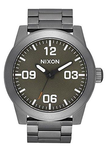 Nixon A346-2947 Corporal SS Men's Watch Gunmetal 48mm Stainless Steel ()