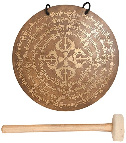 Tibetan Buddhist Vishva-Vajra Monastery Gong - Bronze (Bronze Gong)