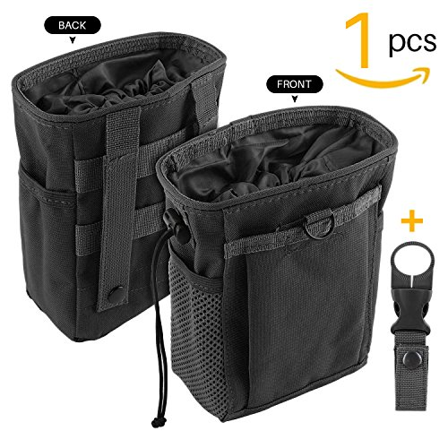 Drawstring Highend Rock Climbing Chalk Bag Carabiner Diferent Pockets for Climbing Bouldering, Gymnastics, Gym Pouch, Cross Fit and Lifting to Securely Hold iPhone and Valuables (Black)