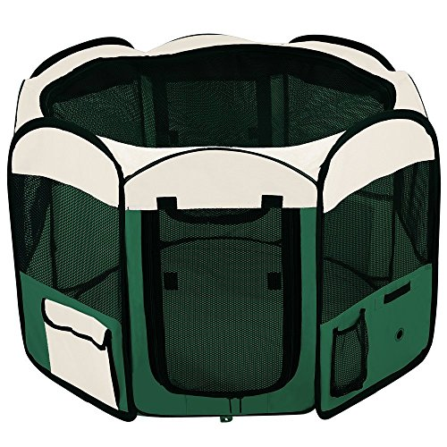 48″ Soft Sided Playpen Octagon Portable Pen Green