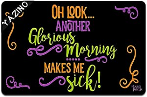 """Another Glorious Morning Halloween Door mat Funny Doormat Custom Home Living Decor Housewares Rugs and Mats State Indoor Gift Ideas Washable Fabric Top 23.6""""(W) X 15.7""""(L)"""