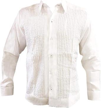 Kin-Ha Guayabera - Camiseta de Manga Larga para Hombre (100% Lino): Amazon.es: Ropa y accesorios