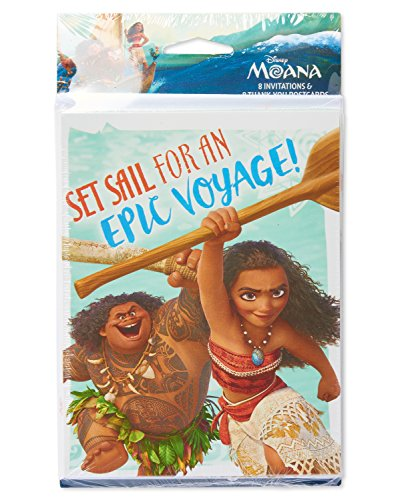 American Greetings Moana Invite And Thank You Combo Pack