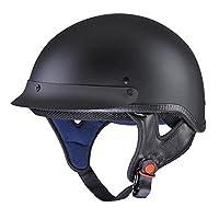 Yescom Motorcycle Half Face Helmet DOT Approved Motorbike Cruiser Chopper Matt Black L from Yescom