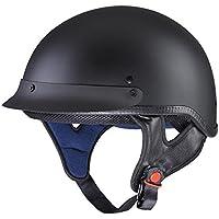 Yescom Motorcycle Half Face Helmet DOT Approved Motorbike...