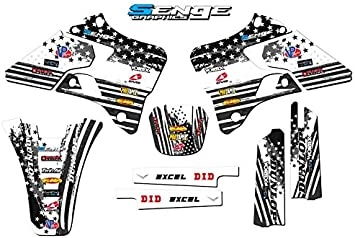 Fly Racing White Complete kit 2-Stroke Senge Graphics 2000-2001 YZ 125//250 Compatible with Yamaha