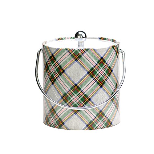 Ice Bucket Plaid Ice Bucket, 3 quart, White
