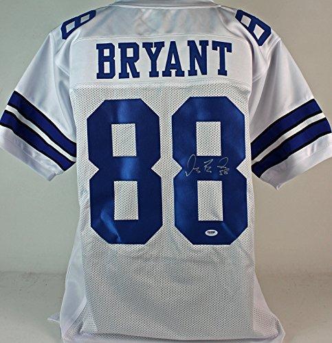 Cowboys Dez Bryant Authentic Signed White Jersey Autographed PSA/DNA
