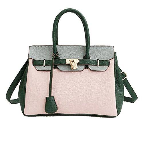 Nuevo Mano De Pink Marrón Hombro Salvaje Bag Messenger De Bolso Meaeo Bolso De Hardware g4zWqvw
